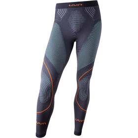 UYN Evolutyon UW Lange Broek Heren, charcoal/green/orange shiny